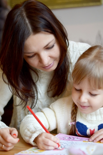 cosy knit sweaters for mom and daughter